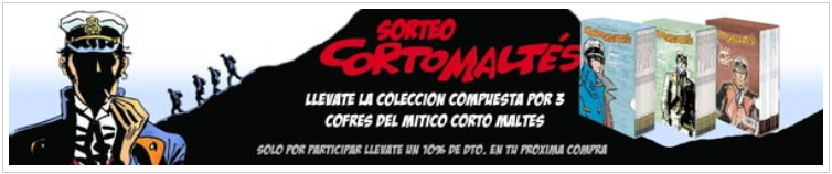 Sorteo 3 cofres Corto Maltés